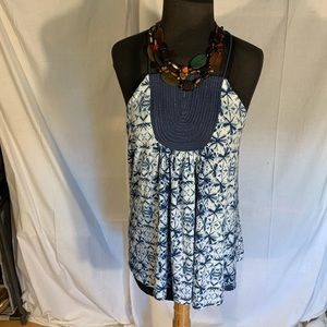 Anthropologie one September quilted bib tank. M